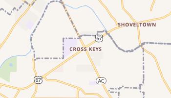 Cross Keys, Missouri map