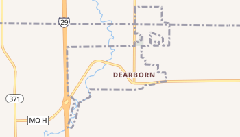 Dearborn, Missouri map