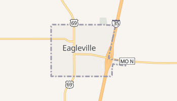 Eagleville, Missouri map
