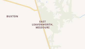 East Leavenworth, Missouri map
