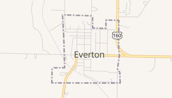 Everton, Missouri map