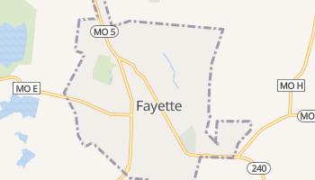 Fayette, Missouri map