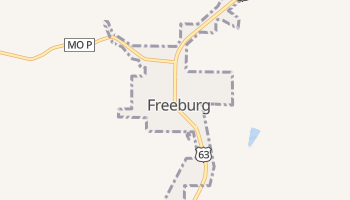 Freeburg, Missouri map