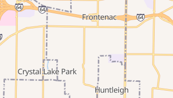 Frontenac, Missouri map