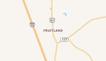 Fruitland, Missouri map