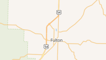 Fulton, Missouri map