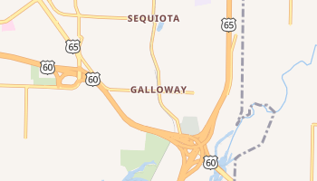 Galloway, Missouri map
