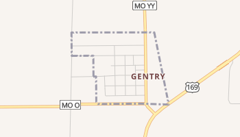 Gentry, Missouri map