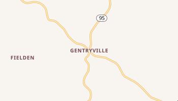 Gentryville, Missouri map