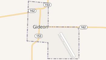 Gideon, Missouri map