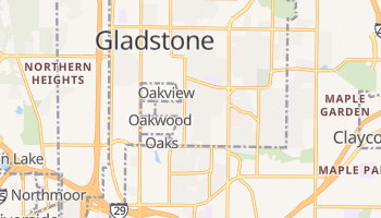 Gladstone, Missouri map