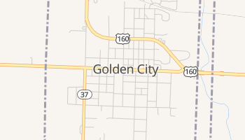 Golden City, Missouri map