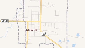 Gower, Missouri map