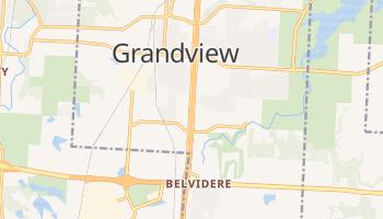 Grandview, Missouri map