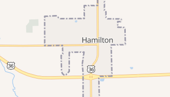 Hamilton, Missouri map