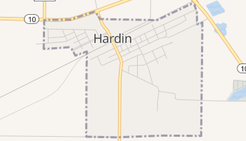 Hardin, Missouri map