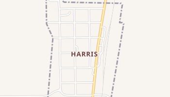 Harris, Missouri map