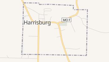 Harrisburg, Missouri map