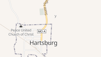 Hartsburg, Missouri map