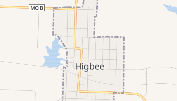 Higbee, Missouri map