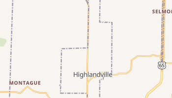 Highlandville, Missouri map