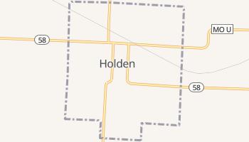 Holden, Missouri map