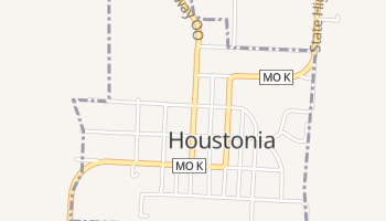 Houstonia, Missouri map