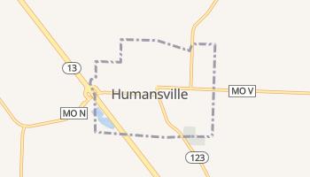 Humansville, Missouri map