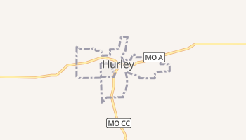 Hurley, Missouri map