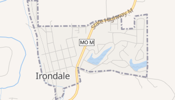 Irondale, Missouri map