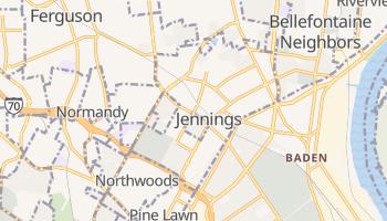 Jennings, Missouri map