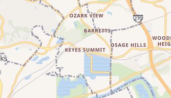 Keyes Summit, Missouri map