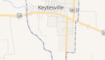 Keytesville, Missouri map