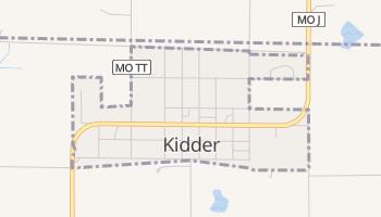 Kidder, Missouri map