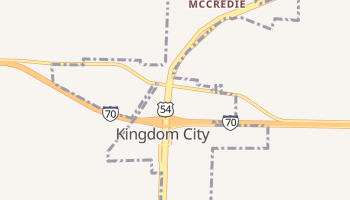 Kingdom City, Missouri map