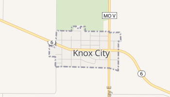 Knox City, Missouri map