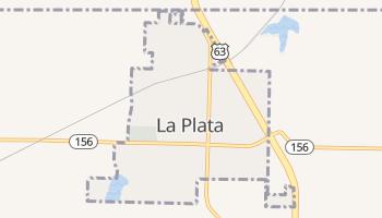 La Plata, Missouri map