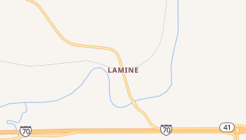 Lamine, Missouri map