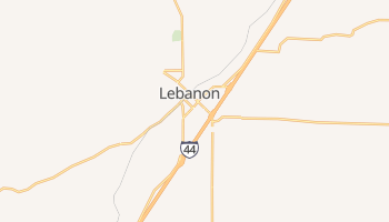 Lebanon, Missouri map