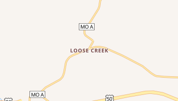 Loose Creek, Missouri map
