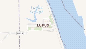 Lupus, Missouri map