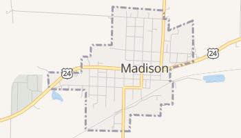 Madison, Missouri map