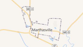Marthasville, Missouri map