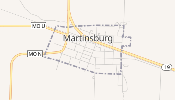 Martinsburg, Missouri map
