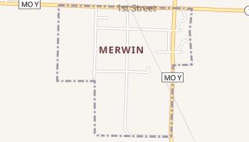 Merwin, Missouri map