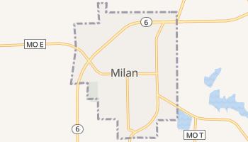Milan, Missouri map