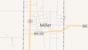 Miller, Missouri map