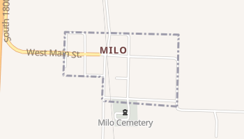 Milo, Missouri map