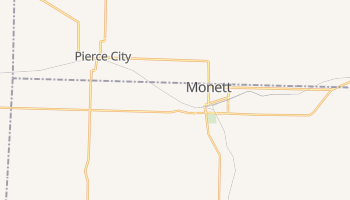 Monett, Missouri map