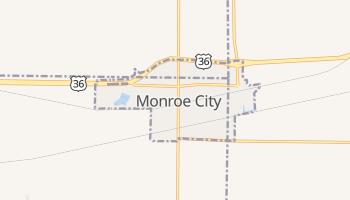 Monroe City, Missouri map